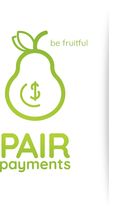 "Pair Payments logo - ""be fruitful"""