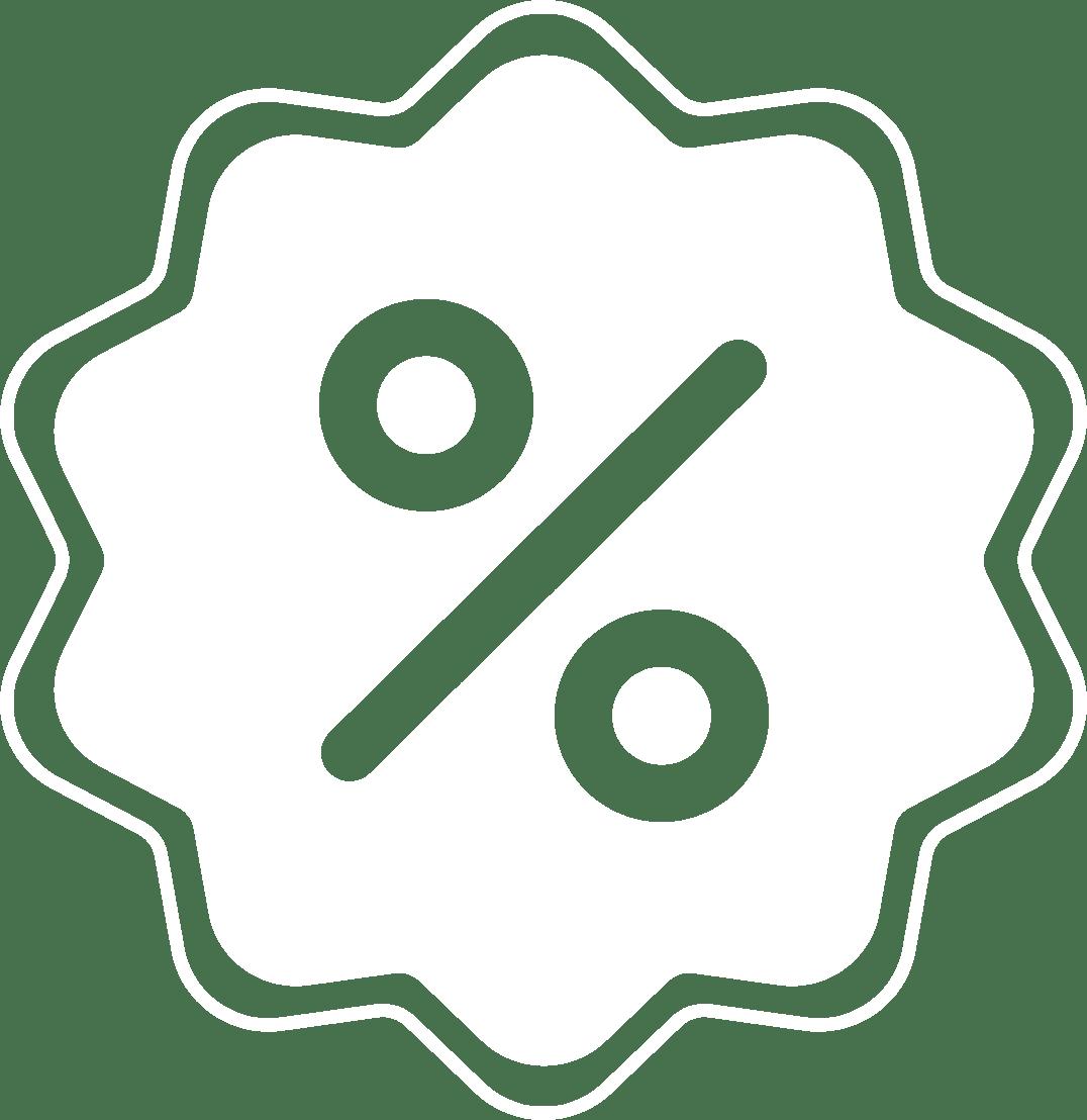 discount white Icon